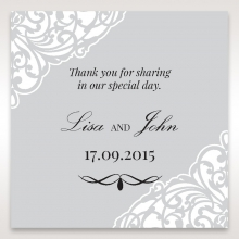 Elegance Encapsulated wedding gift tag