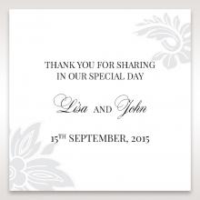 Elegant Black Laser Cut Sleeve wedding stationery gift tag