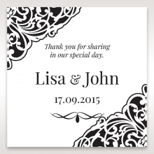 Elegant Crystal Black Lasercut Pocket wedding gift tag design