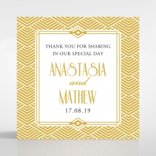 Gilded Glamour wedding gift tag