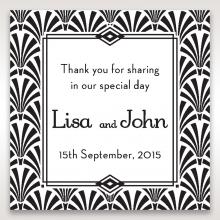Glitzy Gatsby Foil Stamped Patterns wedding gift tag