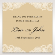 Golden Classic wedding gift tag stationery