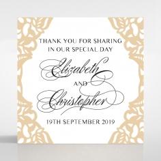 Golden Floral Lux wedding stationery gift tag design