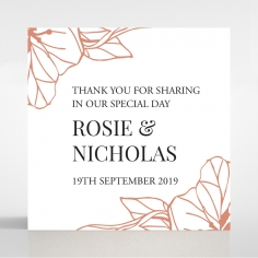 Grand Flora wedding stationery gift tag design