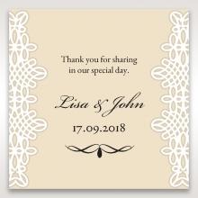 Ivory Victorian Charm wedding stationery gift tag