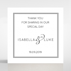 Luxe Paper Elegance wedding stationery gift tag