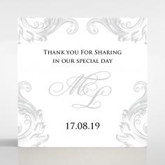Regally Romantic wedding stationery gift tag