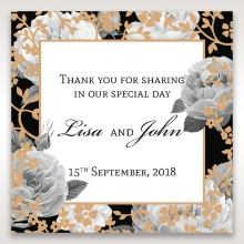 Rose Gold Flowers wedding gift tag stationery item