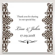 Victorian Charm wedding stationery gift tag design