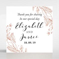 Whimsical Garland wedding gift tag design