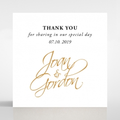Woven Love Letterpress gift tag