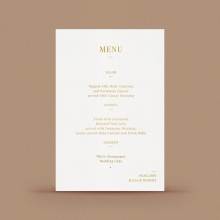 Foil stamped menu card