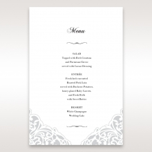 An Elegant Beginning wedding table menu card