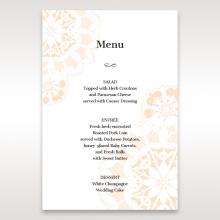 Antique Frame wedding stationery table menu card design