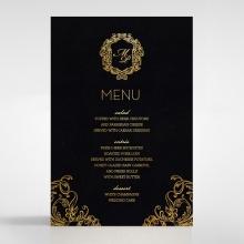 Aristocrat wedding venue table menu card stationery item