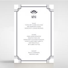 Art Deco Allure wedding reception menu card stationery