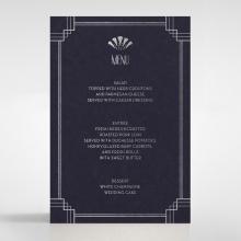 Art Deco Allure wedding table menu card design