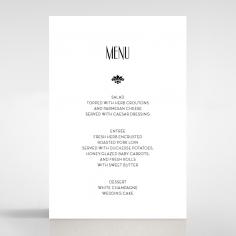Art Deco Romance table menu card stationery design