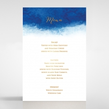 At Twilight  with Foil wedding table menu card stationery