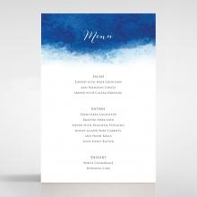 At Twilight wedding venue menu card stationery item