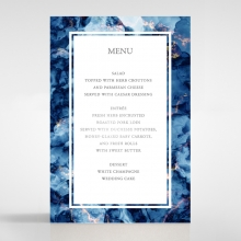 Azure  with Foil reception table menu card