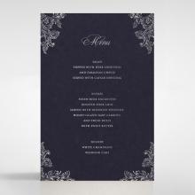 Baroque Romance wedding table menu card design