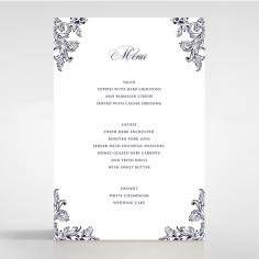 Baroque Romance wedding venue menu card stationery