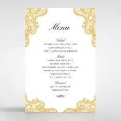 Black Lace Drop table menu card