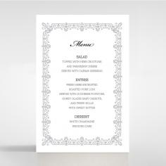 Black on Black Victorian Luxe wedding reception menu card stationery item