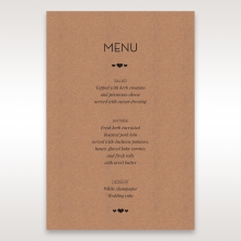 Blissfully Rustic  Laser Cut Wrap reception menu card stationery