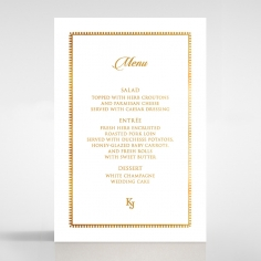 Blooming Charm with Foil wedding reception menu card design