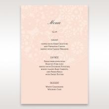 Blush Blooms reception table menu card stationery design