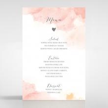 Blushing Rouge reception menu card stationery