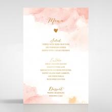 Blushing Rouge with Foil wedding menu card stationery design
