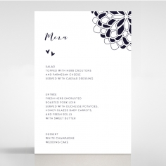 Bohemia wedding menu card stationery item