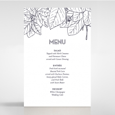 Botanical Canopy wedding menu card