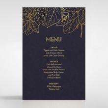 Botanical Canopy wedding stationery menu card