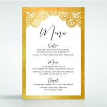 Breathtaking Baroque Foil Laser Cut wedding reception menu card