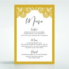 Breathtaking Baroque Foil Laser Cut wedding reception menu card stationery design