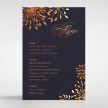 Bursting Bloom wedding reception table menu card stationery item