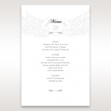 Cascading Flowers menu card