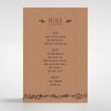 Charming Garland table menu card stationery item