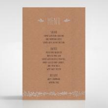 Charming Garland wedding table menu card
