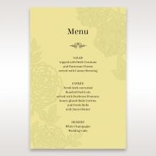 Charming Laser cut Garden wedding table menu card stationery design