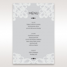 Charming Rustic Laser Cut Wrap table menu card stationery item
