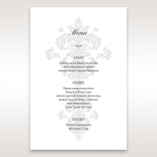 Classic Ivory Damask reception table menu card