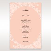 Classic Laser Cut Floral Pocket wedding venue table menu card stationery item