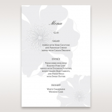 Classic Shimmering Flower reception table menu card stationery