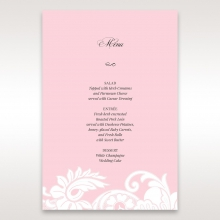Classic White Laser Cut Floral Pocket reception menu card stationery
