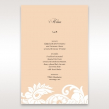 Classic White Laser Cut Sleeve reception table menu card stationery design